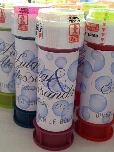 BARATTOLINO - Bolle di sapone con fascia personalizzabile.